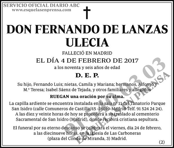 Fernando de Lanzas Ulecia